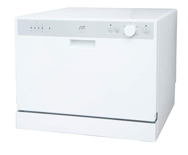 SPT Countertop Dishwasher with Delay Start