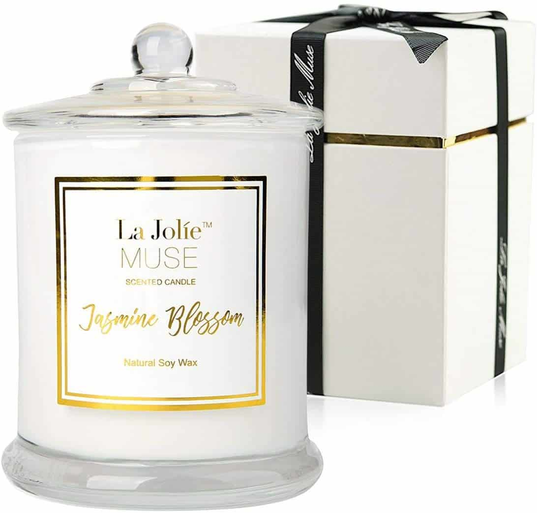La Jolíe Muse Jasmine Scented Soy Wax Candle