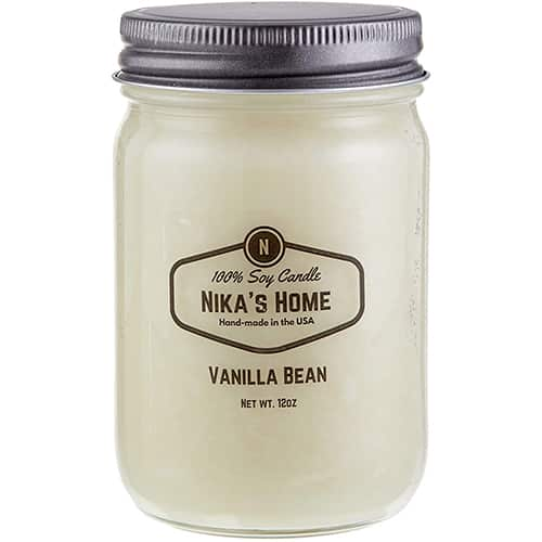 Nika's Home Vanilla Bean Soy Candle