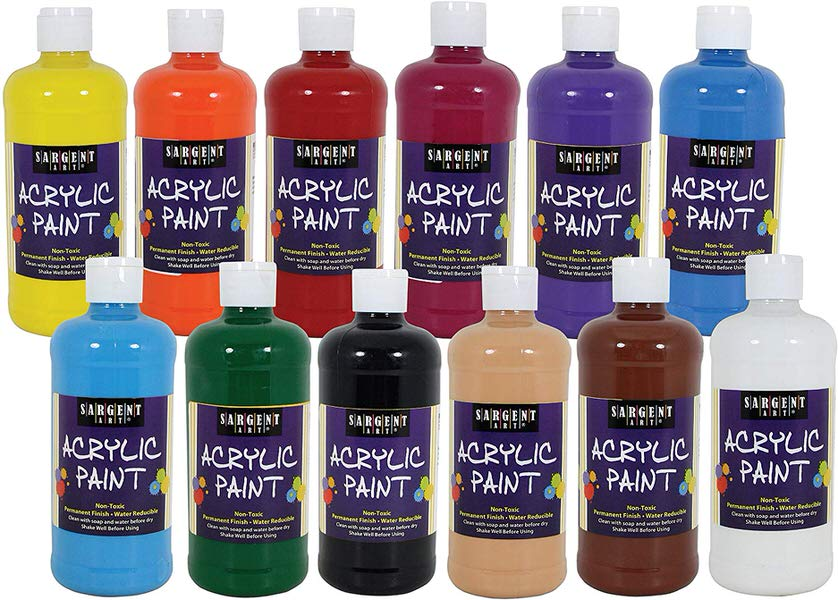 Sargent Art 24-2498 Artist Quality Acrylic Paints Set