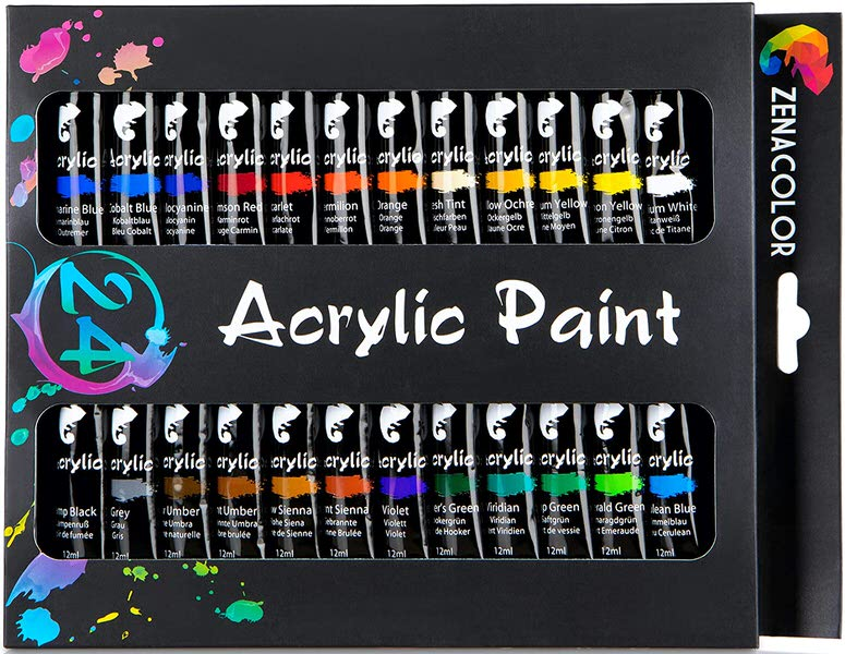 Zenacolor Acrylic Paints Set