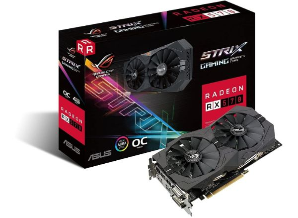 Asus ROG Strix Radeon Rx 570 O4G Gaming OC Graphics Card