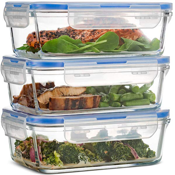 FineDine Superior Glass Meal Prep Containers