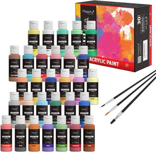 Magicfly 30 Colors Acrylic Paints Set