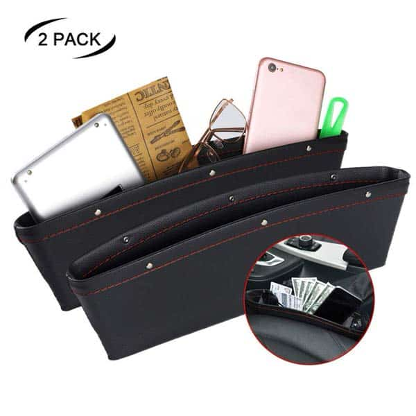JYSW 2 Pack Leather Car Seat Organizer Gap