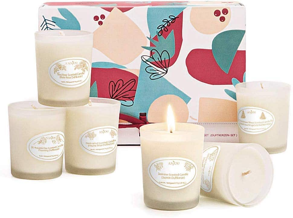 Anjou 6 Pack Soy Wax Candle Gift Set