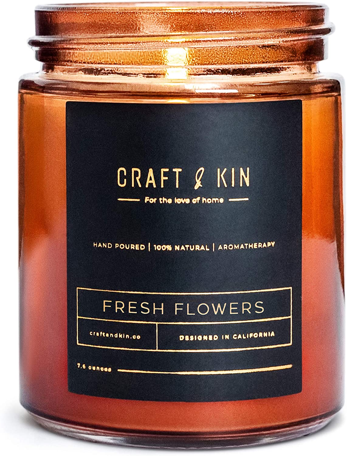 Craft & Kin Fresh Flower Scent Soy Candle