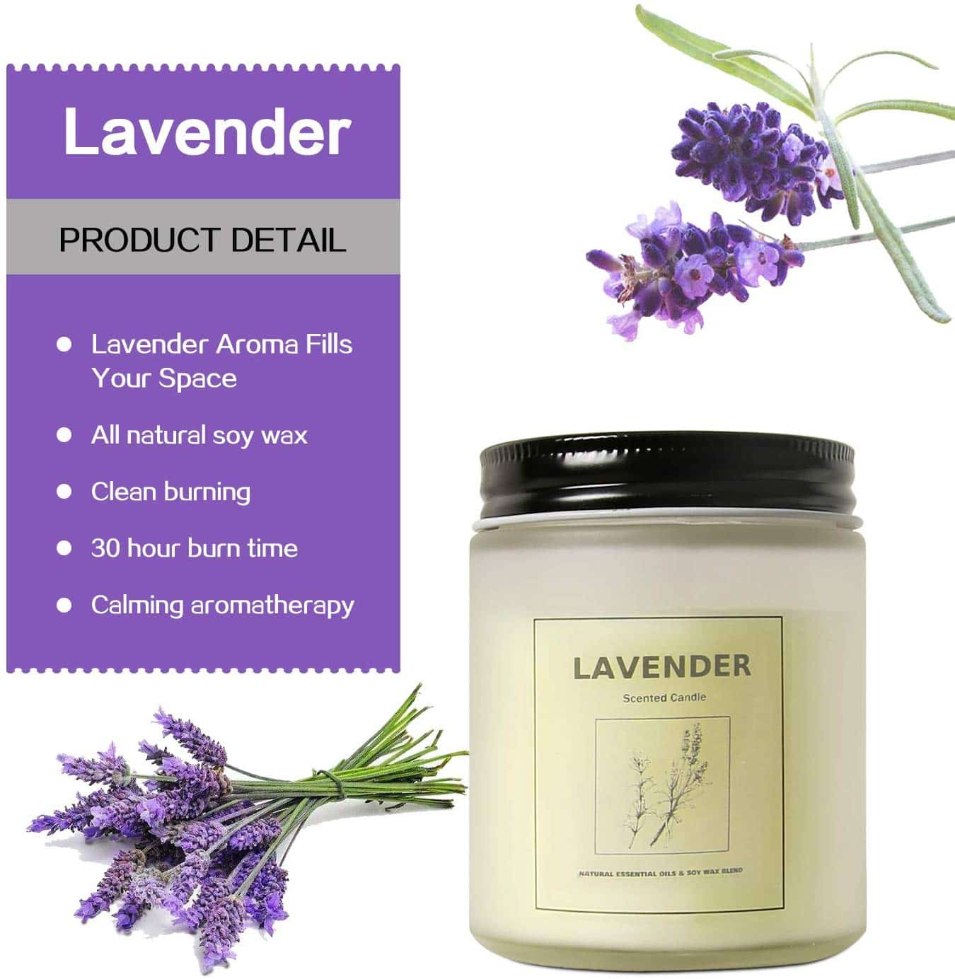 Feeke Lavender Scented Soy Candle