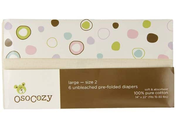 OsoCozy Unbleached Cloth Diapers