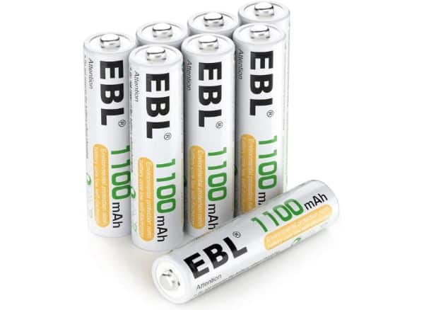 EBL 8 Pack AAA Ni-MH Rechargeable Batteries