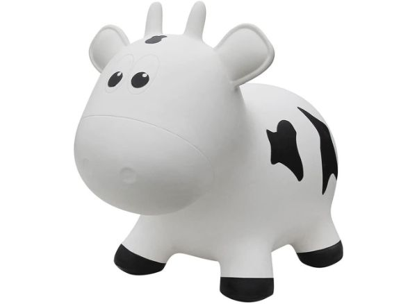 Farm Hoppers Inflatable Bouncing White Cow