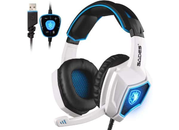 SADES 7.1 Surround Stereo Sound Gaming Headset