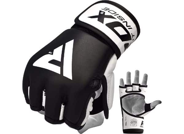 RDX Cowhide Leather MMA Gloves