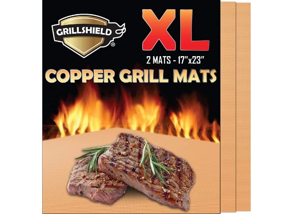 GrillShield Extra Large Copper Grill and Bake Mats