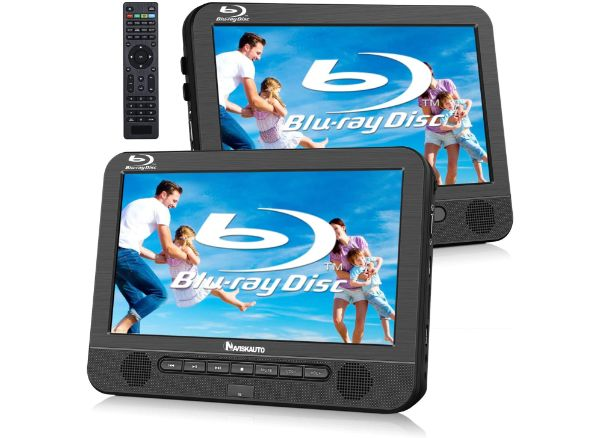 NAVISKAUTO Blu Ray Dual Car DVD Player