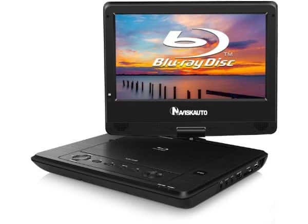 NAVISKAUTO 10.1-inch Portable Blu-Ray DVD Player