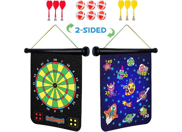 Power Your Fun Magnetic Dart Board for Kids
