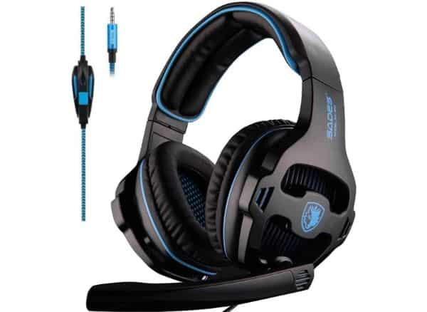 SADES Gaming Headset with LED Light Mic