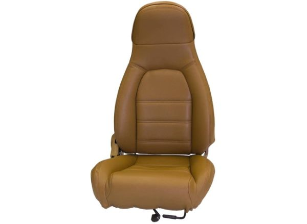 FH Group PU021115 Faux Leather Seat Cover (Tan) Full Set with Gift