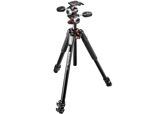 Manfrotto 055 Aluminum 3-Section Tripod Kit