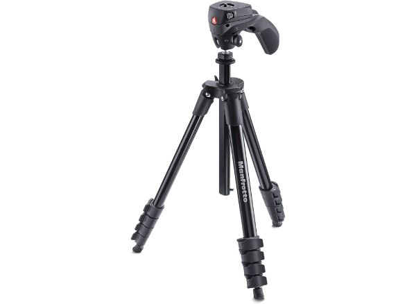 Manfrotto Compact Action Aluminum 5-Section Tripods