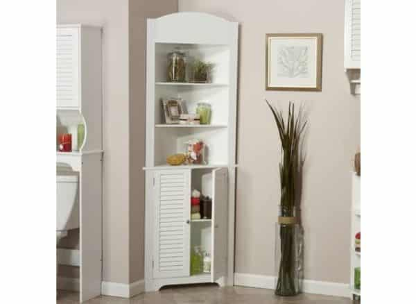 First Choice Unlimited Ellsworth Corner Free Standing Linen Tower