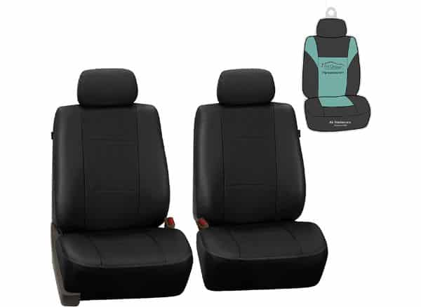FH Group PU007102 Deluxe Leatherette Front Set Seat Covers