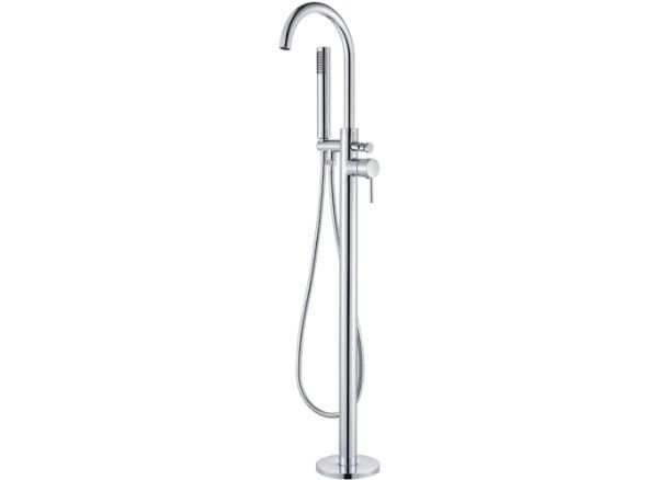 Votamuta New Chrome Polished Floor Mounted Bathtub Shower