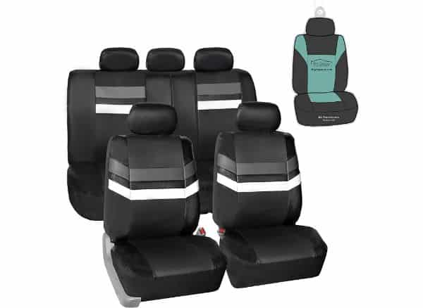 FH Group PU006115 Varsity Spirit PU Leather Seat Covers