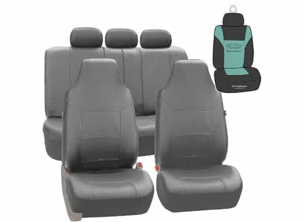 FH Group PU103115 Royal Leather Seat Covers (Gray)