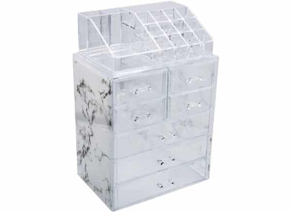 Sorbus Luxe Marble makeup organizer