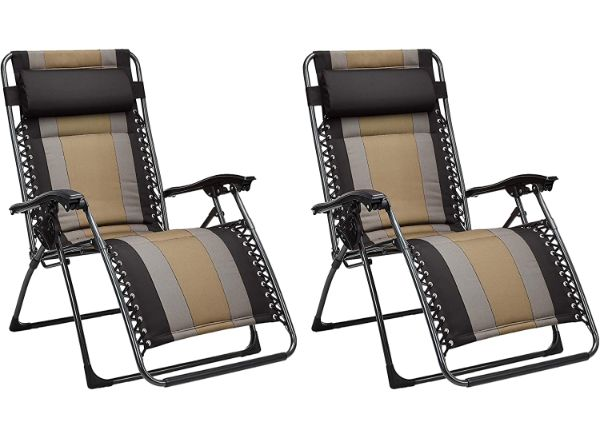 AmazonBasics Set of 2  Black Zero Gravity Chair