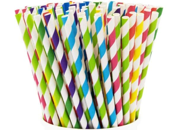 Comfy Package Paper Drinking Straws 200 Pack 100% Biodegradable