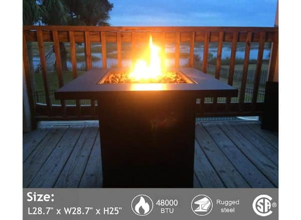Portable Propane Gas Fire Pit Table