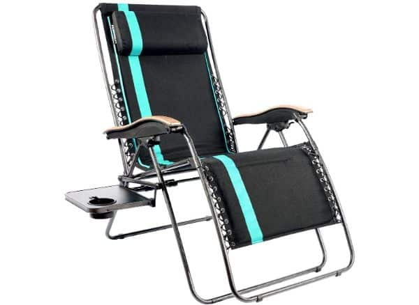 Portal Black and Green XL Zero Gravity Chair