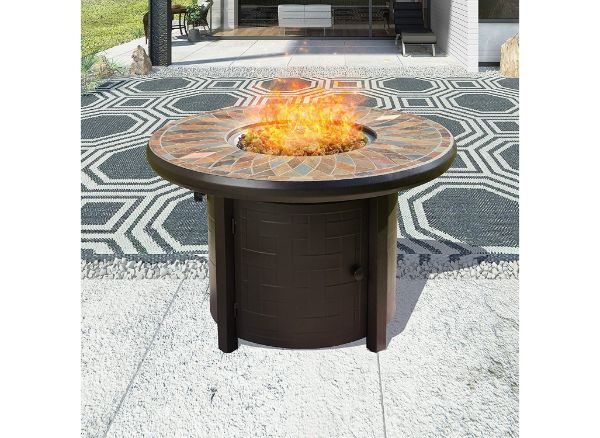 10.  Top Space Propane Fire Pit Table