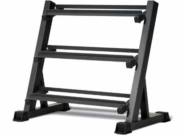 Marcy Metal Steel 3 Tier Home Workout Weight Rack