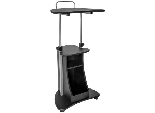 Techni Mobili Sit-to-Stand Rolling Adjustable Height Laptop Cart