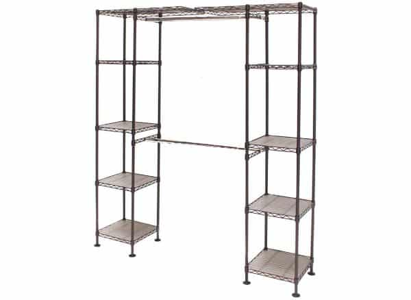 Seville Classics Expandable Double-Rod Clothes Closet