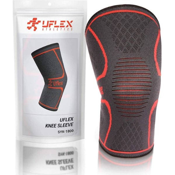 UFlex Athletics Knee Compression Sleeve Support for Running, Jogging, Sports