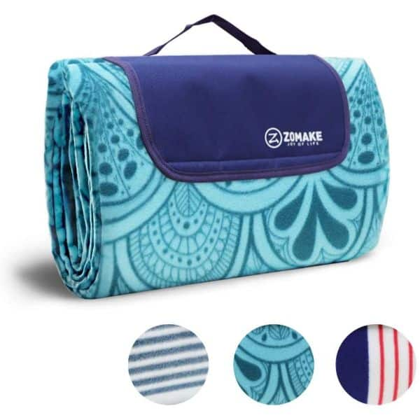 ZOMAKE Picnic Blanket/Waterproof Mat for Family, Concerts, Beach, Park