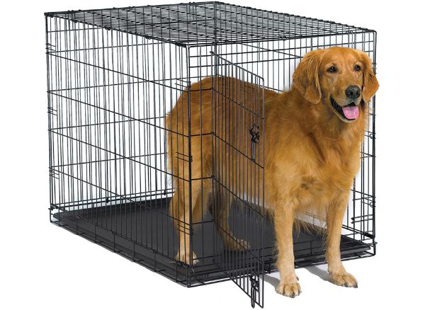 New World Single and Double Door Folding Metal Dog Crate