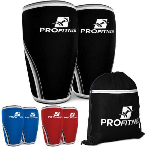 ProFitness Knee Sleeve Squat Support and Compression for Powerlifting
