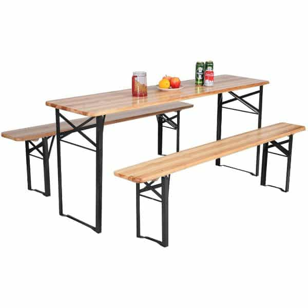 Giantex Portable Folding Table with Seating Set