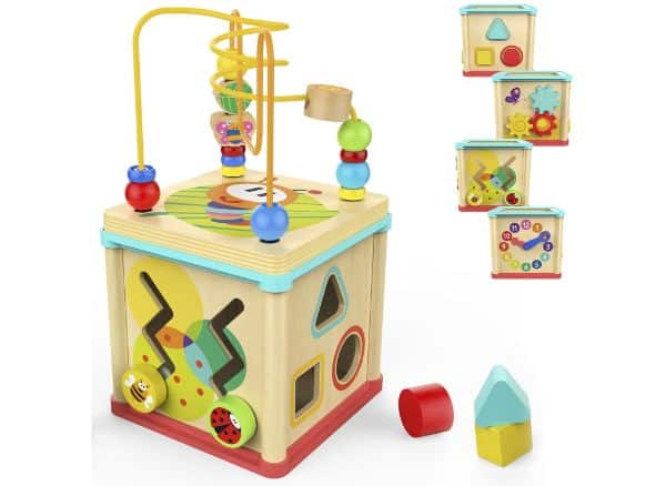 TOP BRIGHT Activity Wooden Cube