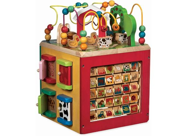 Battat Wooden Activity Cube