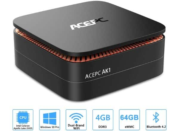 ACEPC Apollo Lake J3455 AK1 Mini PC