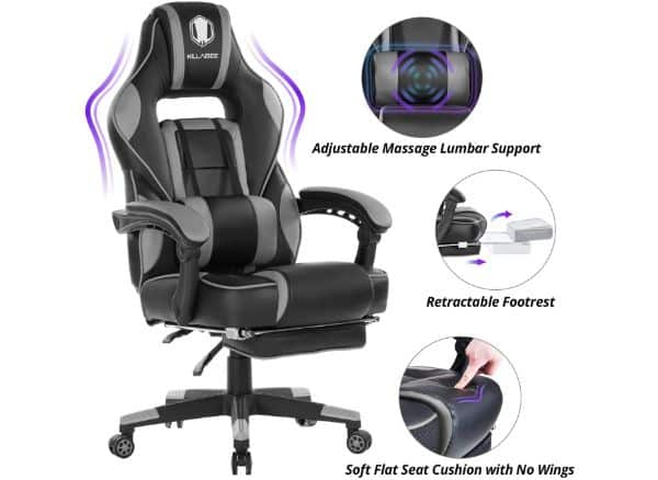 KILLABEE Gaming Chair with Massage