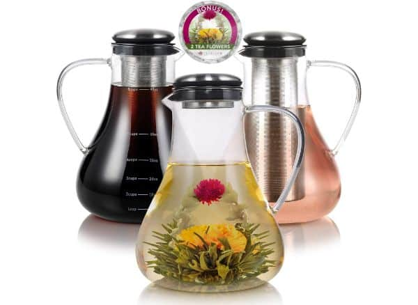 Teabloom Large Glass Teapot and Kettle
