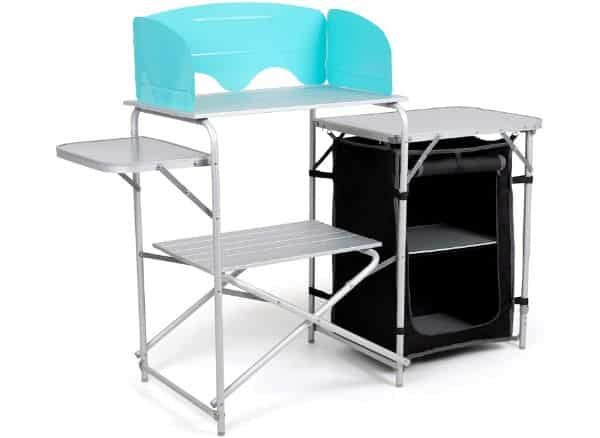 Laralinc Camp Kitchen Table with Windscreen and Carrying Bag